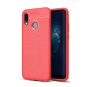 GSMWise Huawei P20 Lite - Zachte Lychee Flexibele TPU Hoesje Back Case - Rood