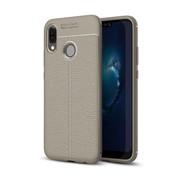 GSMWise Huawei P20 Lite - Zachte Lychee Flexibele TPU Hoesje Back Case - Grijs