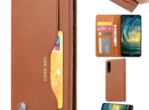 GSMWise Huawei P20 - PU lederen Portemonnee hoesje - Bruin