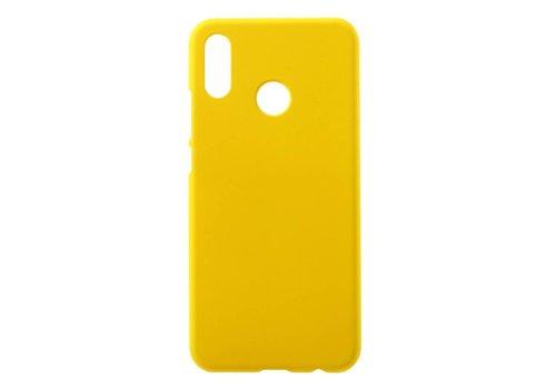Huawei P20 Lite - Rubberen TPU Backcase Cover - Geel