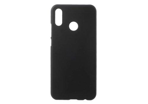 Huawei P20 Lite - Rubberen TPU Backcase Cover - Zwart