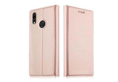Huawei P20 Lite - PU Lederen Bookcase Hoesje met Pashouder - Rose Goud