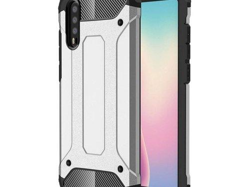 GSMWise Huawei P20 - Stevig Hybrid Beschermhoesje Back Case Shockproof - Zilver