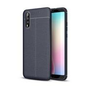GSMWise Huawei P20 - Zachte Lychee Flexibele TPU Hoesje Back Case - Blauw