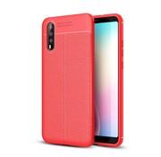 GSMWise Huawei P20 - Zachte Lychee Flexibele TPU Hoesje Back Case - Rood
