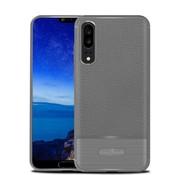 GSMWise Huawei P20 - Zachte Lychee Geborsteld Flexibele TPU Hoesje Back Case - Grijs