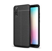 GSMWise Huawei P20 - Zachte Lychee Flexibele TPU Hoesje Back Case - Zwart
