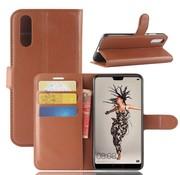 GSMWise Huawei P20 - Lychee PU Lederen Portemonnee Case - Bruin