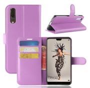 GSMWise Huawei P20 - Lychee PU Lederen Portemonnee Case - Paars
