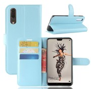 GSMWise Huawei P20 - Lychee PU Lederen Portemonnee Case - Blauw