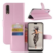 GSMWise Huawei P20 - Lychee PU Lederen Portemonnee Case - Roze