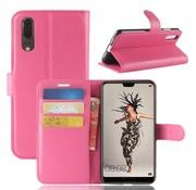 GSMWise Huawei P20 - Lychee PU Lederen Portemonnee Case - Hot Pink