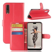 GSMWise Huawei P20 - Lychee PU Lederen Portemonnee Case - Rood