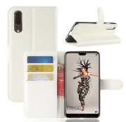 GSMWise Huawei P20 - Lychee PU Lederen Portemonnee Case - Wit