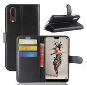 GSMWise Huawei P20 - Lychee PU Lederen Portemonnee Case - Zwart