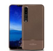 GSMWise Huawei P20 Pro - Zachte Lychee Geborsteld Flexibele TPU Hoesje Back Case - Bruin