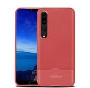 GSMWise Huawei P20 Pro - Zachte Lychee Geborsteld Flexibele TPU Hoesje Back Case - Rood
