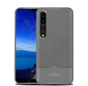 GSMWise Huawei P20 Pro - Zachte Lychee Geborsteld Flexibele TPU Hoesje Back Case - Grijs