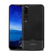 GSMWise Huawei P20 Pro - Zachte Lychee Geborsteld Flexibele TPU Hoesje Back Case - Zwart