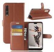 GSMWise Huawei P20 Pro - Lychee PU Lederen Portemonnee Case - Bruin