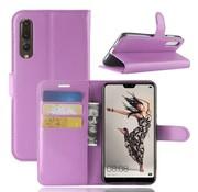 GSMWise Huawei P20 Pro - Lychee PU Lederen Portemonnee Case - Paars