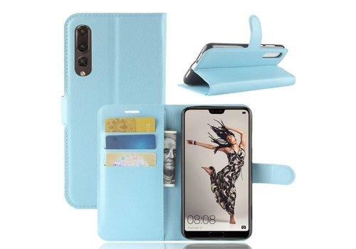 Huawei P20 Pro - Lychee PU Lederen Portemonnee Case - Blauw