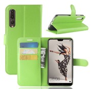 GSMWise Huawei P20 Pro - Lychee PU Lederen Portemonnee Case - Groen