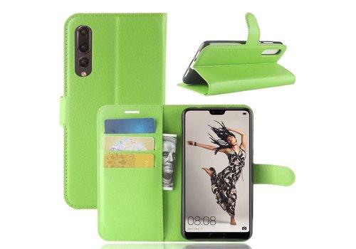 Huawei P20 Pro - Lychee PU Lederen Portemonnee Case - Groen