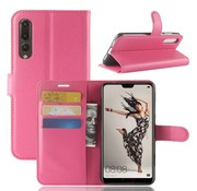 GSMWise Huawei P20 Pro - Lychee PU Lederen Portemonnee Case - Hot Pink