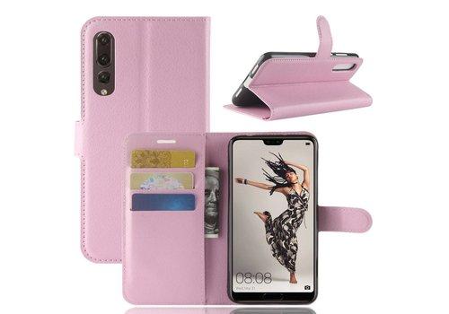 Huawei P20 Pro - Lychee PU Lederen Portemonnee Case - Roze