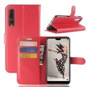 GSMWise Huawei P20 Pro - Lychee PU Lederen Portemonnee Case - Rood
