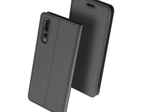 GSMWise Huawei P20 Pro - PU Lederen Bookcase Hoesje met Pashouder - Grijs