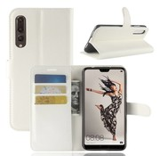 GSMWise Huawei P20 Pro - Lychee PU Lederen Portemonnee Case - Wit