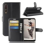 GSMWise Huawei P20 Pro - Lychee PU Lederen Portemonnee Case - Zwart
