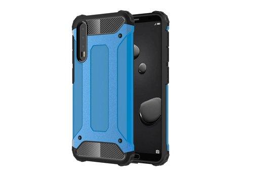 Huawei P20 Pro - Stevig Hybrid Beschermhoesje Back Case Shockproof - Baby Blauw