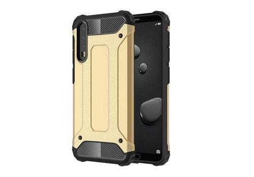 Huawei P20 Pro - Stevig Hybrid Beschermhoesje Back Case Shockproof - Goud
