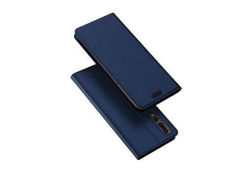 Huawei P20 Pro - PU Lederen Bookcase Hoesje met Pashouder - Blauw