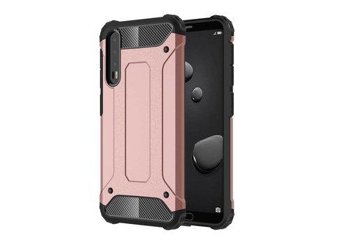 Huawei P20 Pro - Stevig Hybrid Beschermhoesje Back Case Shockproof - Rose Goud