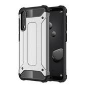 GSMWise Huawei P20 Pro - Stevig Hybrid Beschermhoesje Back Case Shockproof - Zilver