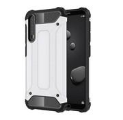 GSMWise Huawei P20 Pro - Stevig Hybrid Beschermhoesje Back Case Shockproof - Wit