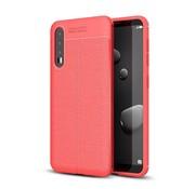 GSMWise Huawei P20 Pro - Zachte Lychee Flexibele TPU Hoesje Back Case - Rood