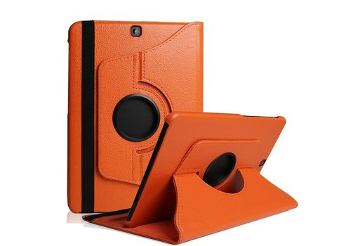 Samsung Galaxy Tab S2 8.0 T715 / T710 Swivel Case 360 graden Draaibare Beschermhoes Tablethoes Cover Hoes met Multi-stand - Kleur Oranje