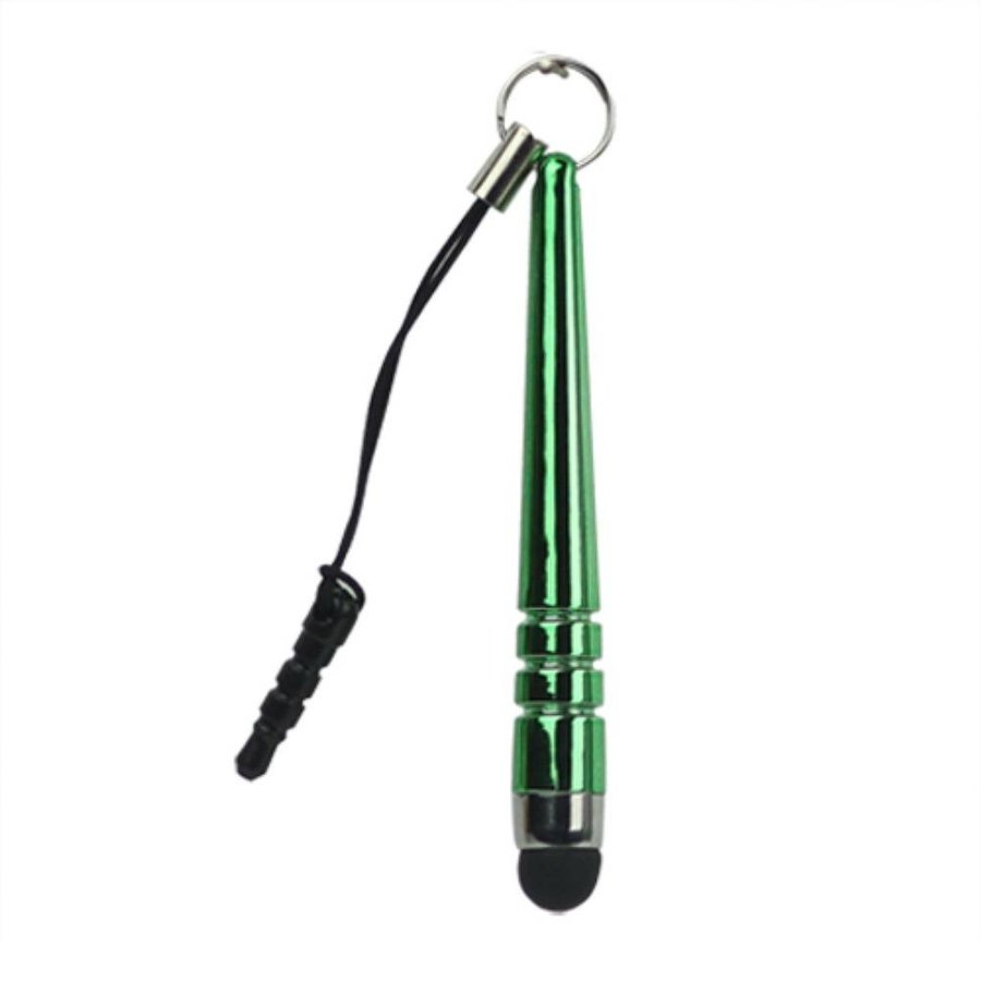Universele 3.5mm plug capacitieve stylus touchpen - Groen