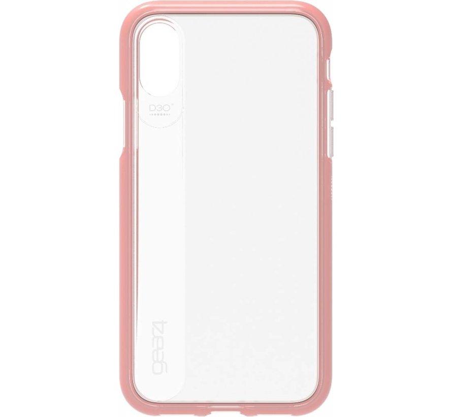 GEAR4 - iPhone X/Xs Hoesje - Windsor Harde Back Case Rosé Goud