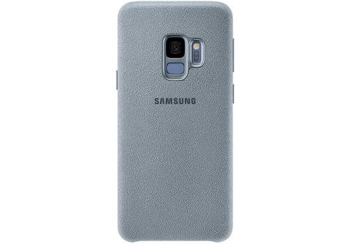 Samsung Alcantara cover leer voor Samsung Galaxy S9 - Munt