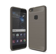 GSMWise Huawei P10 Lite Hoesje - Carbon Fiber Design Back Case - Grijs