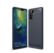 GSMWise Huawei P30 Pro Hoesje - Carbon Fiber Design Back Case - Blauw