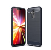 GSMWise Huawei Mate 20 Lite Hoesje - Carbon Fiber Design Back Case - Blauw