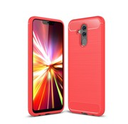 GSMWise Huawei Mate 20 Lite Hoesje - Carbon Fiber Design Back Case - Rood