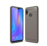 GSMWise Huawei P Smart Plus (2018) Hoesje - Carbon Fiber Design Back Case - Grijs